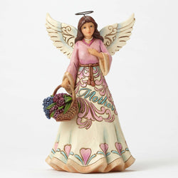 Always and Forever Is, A Mother's Love - Mother Angel With Flower Basket  - Country N More Gifts
