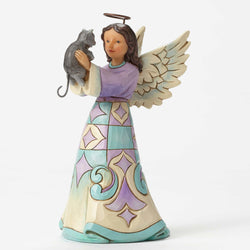 Faithful Friend - Pint Sized Angel With Kitten  - Country N More Gifts