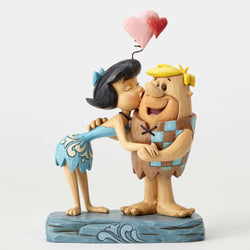 Flintstones - Betty kissing Barney  - Country N More Gifts