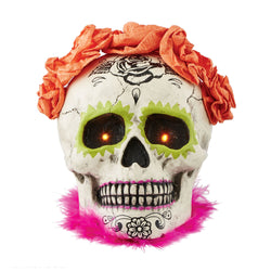 Day Of The Dead Lit Skull  - Country N More Gifts