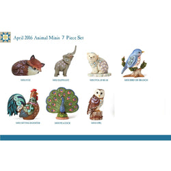 2016 Mini Animals Prepack - Set of 7  - Country N More Gifts