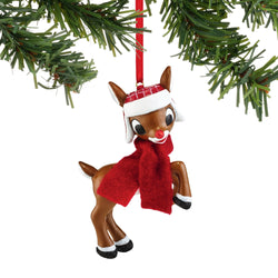 Rudolph in Hat and Scarf Ornament  - Country N More Gifts