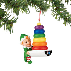 Rock A Stack Elf Ornament  - Country N More Gifts