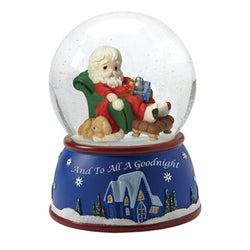 And To All A Goodnight - 8th In Series Musical Snow Globe Annual Santa  - Country N More Gifts