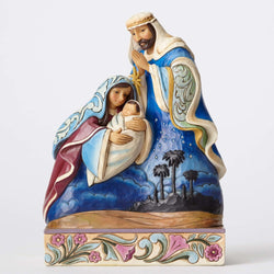 And You Shall Call Him Emmanuel - Holy Family With Bethlehem Scene  - Country N More Gifts