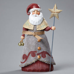Santa Holding Star Staff  - Country N More Gifts