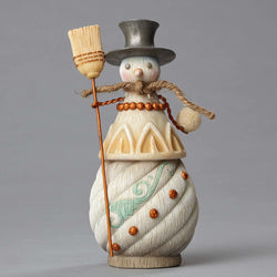 Snowman with Broom  - Country N More Gifts