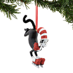 Cat On Skates Ornament  - Country N More Gifts