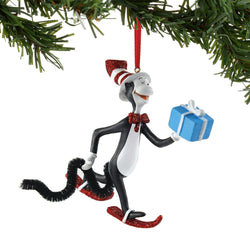 Cat With Gift Ornament  - Country N More Gifts