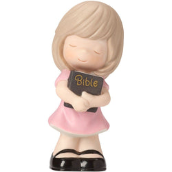 Let His Words Guide You - Girl Holding Bible  - Country N More Gifts