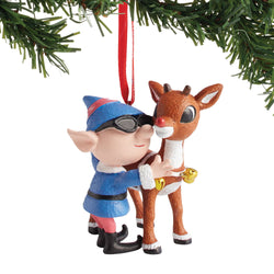 Rudolph and Elf Ornament  - Country N More Gifts