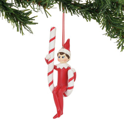 Candy Cane Swing Ornament - Elf On The Shelf  - Country N More Gifts