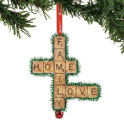 Family, Love, Life Scrabble Ornament  - Country N More Gifts