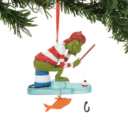 Grinch Ice Fishing Ornament - Dr Seuss  - Country N More Gifts