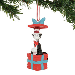 Cat In A Box Ornament - Cat In The Hat  - Country N More Gifts