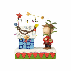 Charlie Brown's Christmas - Charlie Brown & Decorated Doghouse  - Country N More Gifts