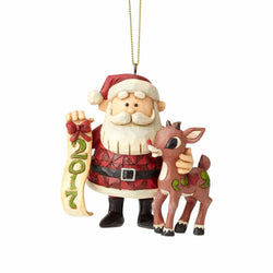 Dated 2017 Rudolph Santa Ornament  - Country N More Gifts