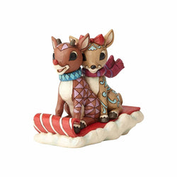 Rudolph and Clarice Sledding  - Country N More Gifts