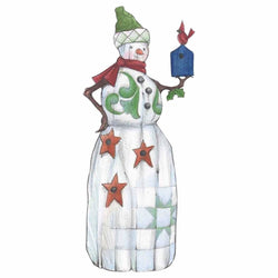 Folklore Snowman With Red Bird and Birdhouse  - Country N More Gifts