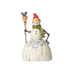 Folklore Snowman with Broom  - Country N More Gifts