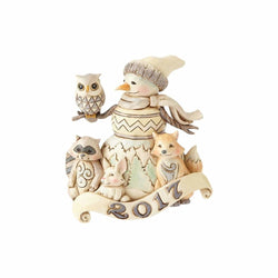 Dated 2017 Snowman Ornament - White Woodland  - Country N More Gifts