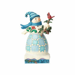 'Tis The Season To Branch Out - Snowman With Cardinal - Wonderland  - Country N More Gifts