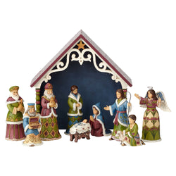 One Holy Night - Victorian 10 Piece Mini Nativity  - Country N More Gifts