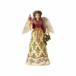 Jolly Holly Days - Victorian Angel with Candle  - Country N More Gifts