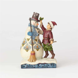 Ring In Cheer - Victorian Boy Building Snowman  - Country N More Gifts