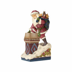 Making Magic - Victorian Santa By Chimney  - Country N More Gifts