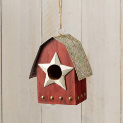 Patriotic Barn Birdhouse  - Country N More Gifts