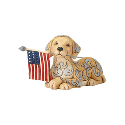Wag The Flag - Dog Holding American Flag  - Country N More Gifts