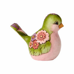 Bright & Beautiful - Green Floral Bird  - Country N More Gifts