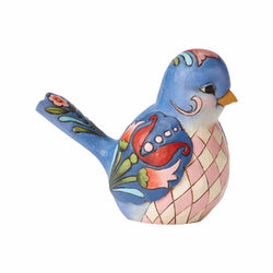Bluebird of Happiness - Blue Floral Bird  - Country N More Gifts