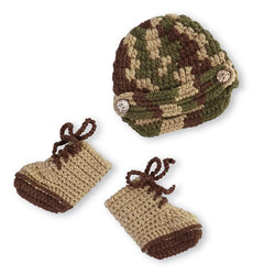 Army Hat and Boots Photography Set  - Country N More Gifts