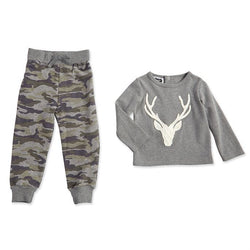 Camo Little Deer Collection Stag | Boys Two-Piece Set | 2T - 5T  - Country N More Gifts