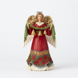 Bells Ring While Angels Sing - Angel Holding Bells Figurine  - Country N More Gifts
