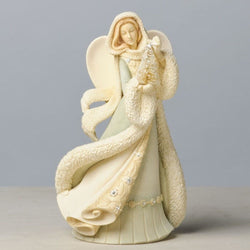 Angel with Christmas Tree Figurine  - Country N More Gifts