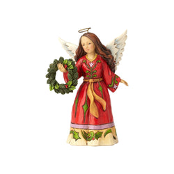 Find Comfort in Christmas Joy - Pint Sized Angel with Wreath  - Country N More Gifts