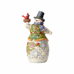 Festive Nesting - Snowman with Cardinal in Nest  - Country N More Gifts
