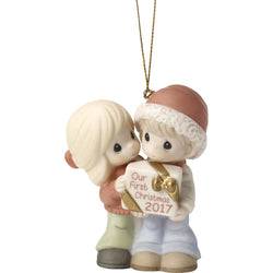 Our First Christmas Together 2017 Ornament Bisque Porcelain  - Country N More Gifts