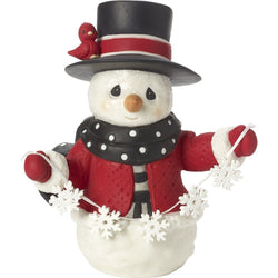 2017 Annual Snowman Figurine - May All Your Christmases Be White - Eighth in Series  - Country N More Gifts