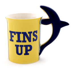 Fins Up Shark Mug = Margaritaville  - Country N More Gifts
