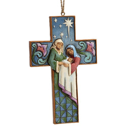 Cross Shaped Holy Family Ornament  - Country N More Gifts