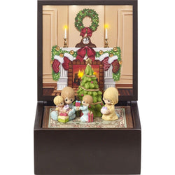Heirloom Set of 5 Family Christmas Deluxe Music Box - LED Lighted  - Country N More Gifts