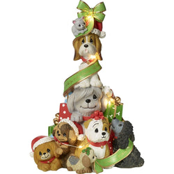 A Canine Christmas - Dogs And Cat LED Christmas Tree Musical  - Country N More Gifts