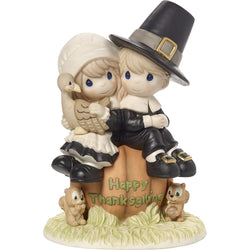 I Give Thanks Every Day For You - Limited Edition - Pilgrim Thanksgiving Couple  - Country N More Gifts