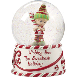 2017 Annual Elf Musical Snow Globe - Wishing You The Sweetest Holiday, Second in Series Figurine  - Country N More Gifts