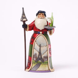 French Santa - Bonjour And Merry Christmas  - Country N More Gifts