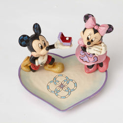 A Magical Moment - Mickey & Minnie Ring Dish  - Country N More Gifts